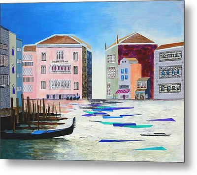 The Fantastic Reality Of Venice Metal Print