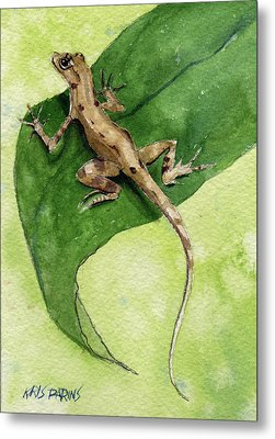 The Feckless Gecko Metal Print by Kris Parins