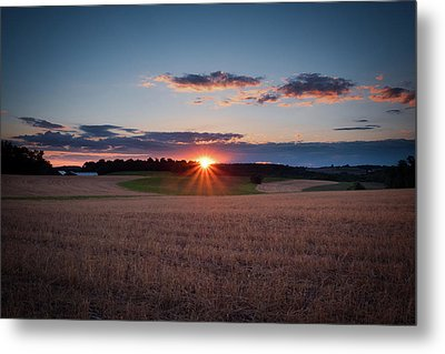 Metal Print featuring the photograph The Fields At Sunset by Mark Dodd