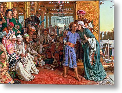 The Finding Of The Savior In The Temple Metal Print by William Holman Hunt