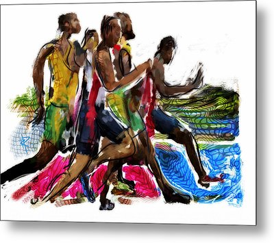 The Finish Line Metal Print