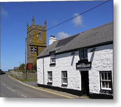 Metal Print featuring the photograph The First And Last Inn In England by Terri Waters
