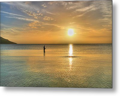The Fisherman Metal Print by David Hibberd