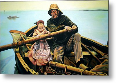 The Fisherman Metal Print by Jose Roldan Rendon