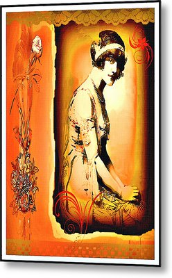The Flapper Metal Print by Mary Morawska