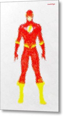 The Flash - Da Metal Print by Leonardo Digenio