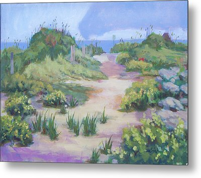 The Flip-flop Path To Paradise Metal Print by Carol Strickland