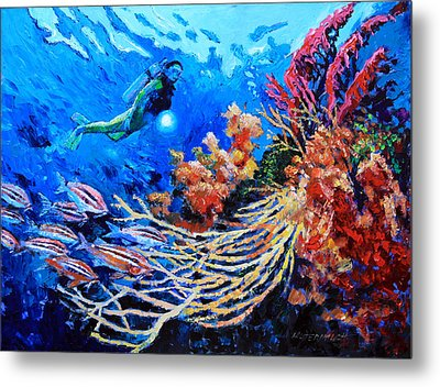 The Flow Of Creation Metal Print by John Lautermilch