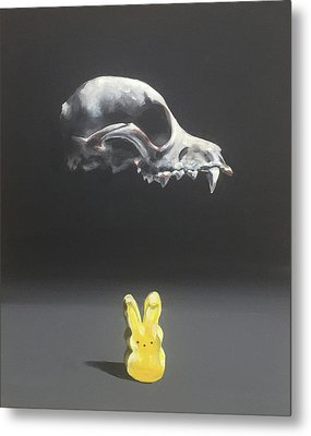 The Fox And The Hare Metal Print