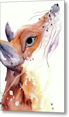 Metal Print featuring the painting The Fox by Dawn Derman