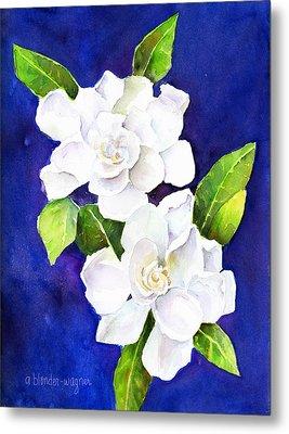 The Fragrant Gardenia Metal Print by Arline Wagner