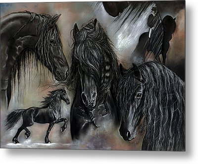 The Friesians In My Head Metal Print