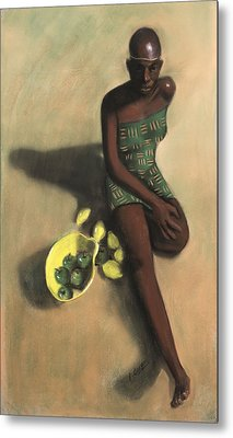 The Fruit Seller Metal Print by L Cooper