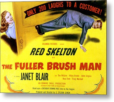 The Fuller Brush Man, Janet Blair, Red Metal Print