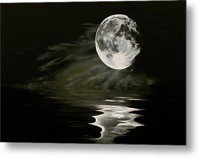 The Fullest Moon Metal Print by Elisabeth Dubois