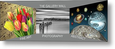 The Gallery Wall Logo Contest 2 Metal Print by Steve Purnell