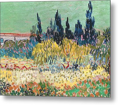 The Garden At Arles  Metal Print by Vincent Van Gogh