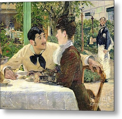 The Garden Of Pere Lathuille Metal Print by Edouard Manet