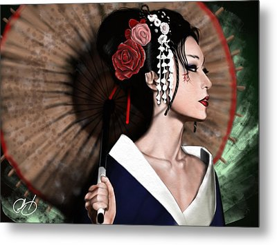 The Geisha Metal Print by Pete Tapang
