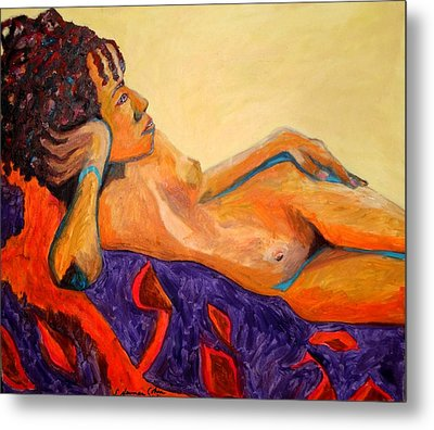 Metal Print featuring the painting The Girl From Ipanima by Esther Newman-Cohen