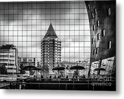 Metal Print featuring the photograph The Glass Windows Of The Market Hall In Rotterdam by RicardMN Photography