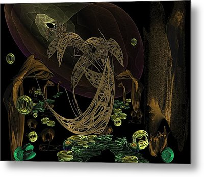 The Golden Dolphins Metal Print by Ricky Kendall
