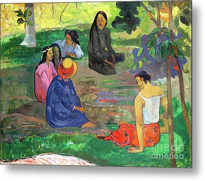 The Gossipers Metal Print by Paul Gauguin