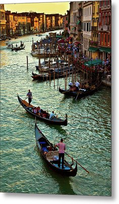 Metal Print featuring the photograph The Grand Canal Venice by Harry Spitz