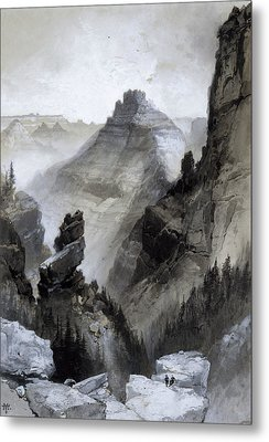 The Grand Canyon - Head Of The Old Hance Trail Metal Print by Thomas Moran