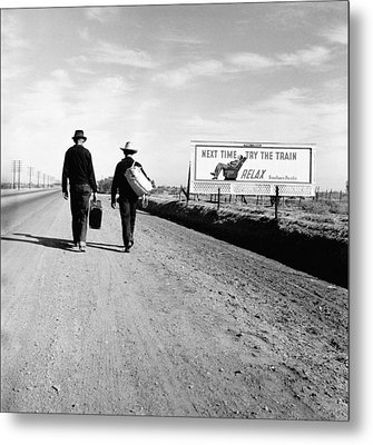 The Great Depression. Toward Los Metal Print by Everett