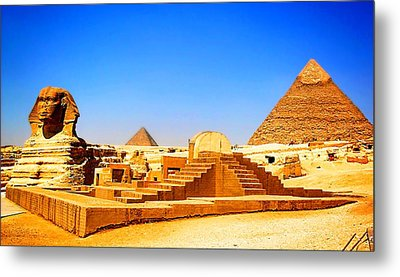 The Great Sphinx Of Giza Metal Print
