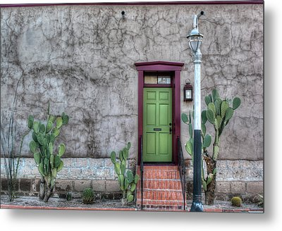 Metal Print featuring the photograph The Green Door by Lynn Geoffroy