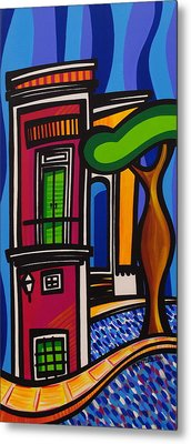 The Green Door Metal Print by Mary Tere Perez