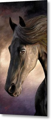 Metal Print featuring the painting The Grey by James Shepherd
