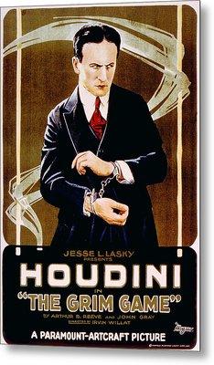 The Grim Game, Harry Houdini, 1919 Metal Print