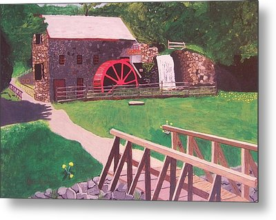 The Gristmill At Wayside Inn Metal Print by William Demboski