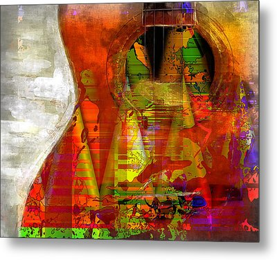 The Guitar Metal Print by Contemporary Art