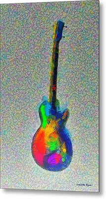 The Guitar - Da Metal Print by Leonardo Digenio