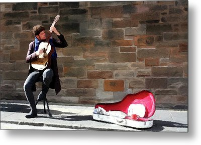 The Guitarist Metal Print by David Dehner