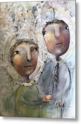 The Happy Couple Metal Print by Eleatta Diver