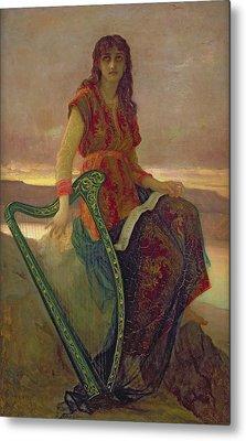 The Harpist Metal Print by Antoine Auguste Ernest Herbert