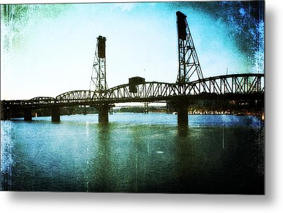 The Hawthorne Bridge Metal Print by Cathie Tyler