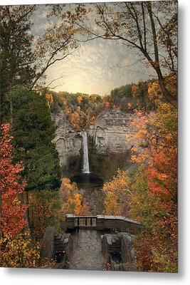 The Heart Of Taughannock Metal Print by Jessica Jenney