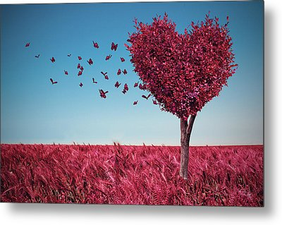 The Heart Tree Metal Print