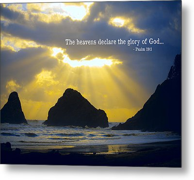 The Heavens Declare Metal Print by Bonnie Bruno