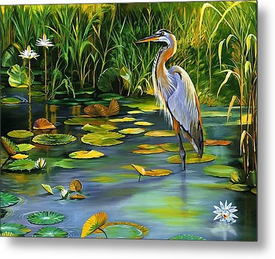 The Heron Metal Print by Beth Smith