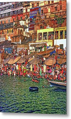 The Holy Ganges Metal Print by Steve Harrington