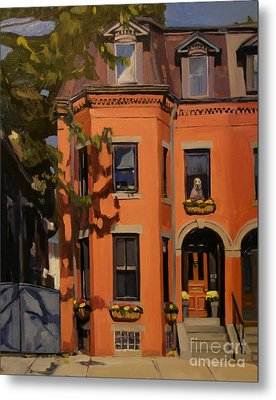 The House Sitter Metal Print by Deb Putnam