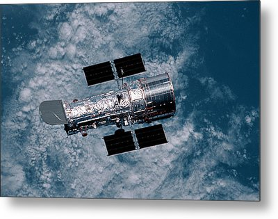 The Hubble Space Telescope Metal Print by Nasa