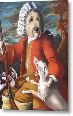 The Hunter And His Loyal Companion Metal Print